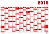 Obrázek Plánovací roční nástěnné mapy - červená / BKA5