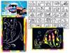 Obrázek Škrabací obrázek barevný - 15 x 10 cm / mix zvířátka